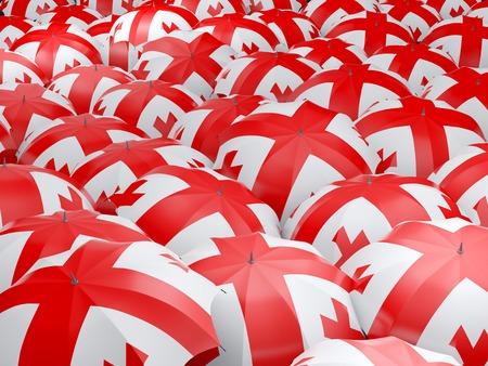 georgia: Flag of georgia on umbrella. 3D illustration