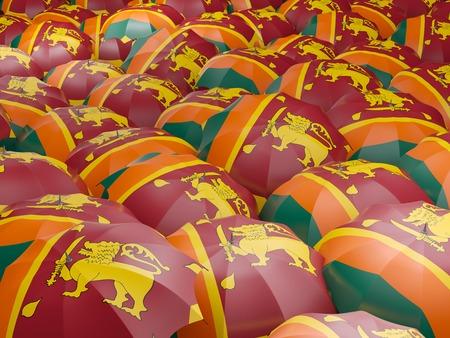 sri: Flag of sri lanka on umbrella. 3D illustration