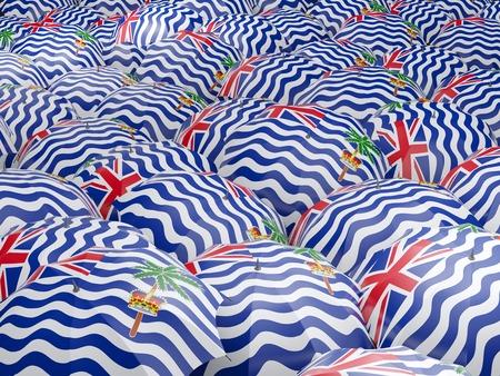 indian ocean: Flag of british indian ocean territory on umbrella. 3D illustration