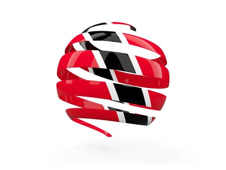 Flag of trinidad and tobago, round icon isolated on white. 3D illustration Stock Photo