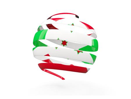 burundi: Flag of burundi, round icon isolated on white. 3D illustration Stock Photo