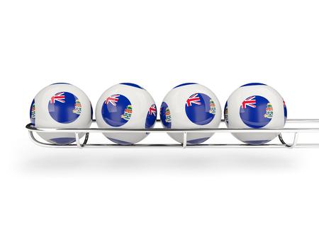 cayman: Flag of cayman islands on lottery balls. 3D illustration Stock Photo