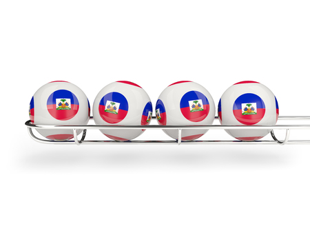 haiti: Flag of haiti on lottery balls. 3D illustration