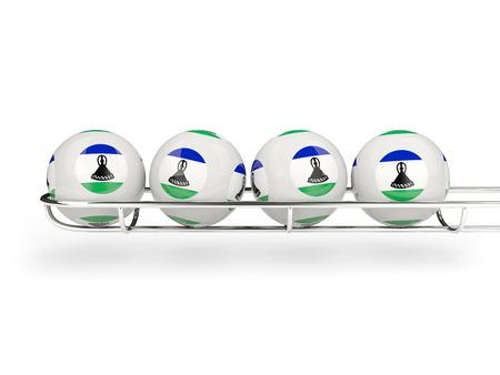 lesotho: Flag of lesotho on lottery balls. 3D illustration