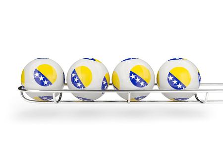herzegovina: Flag of bosnia and herzegovina on lottery balls. 3D illustration