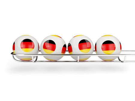 Flag of germany on lottery balls. 3D illustration