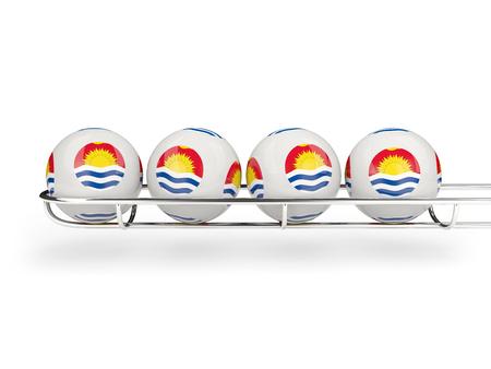 kiribati: Flag of kiribati on lottery balls. 3D illustration