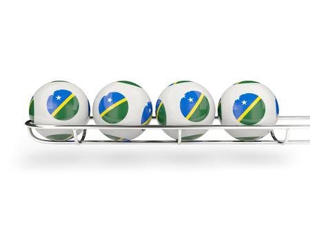 solomon: Flag of solomon islands on lottery balls. 3D illustration Stock Photo