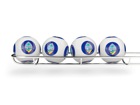 guam: Flag of guam on lottery balls. 3D illustration Stock Photo