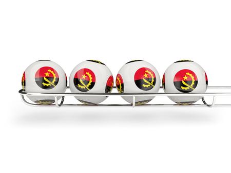 angola: Flag of angola on lottery balls. 3D illustration