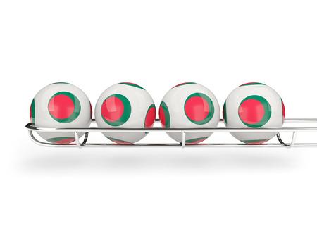 national flag bangladesh: Flag of bangladesh on lottery balls. 3D illustration