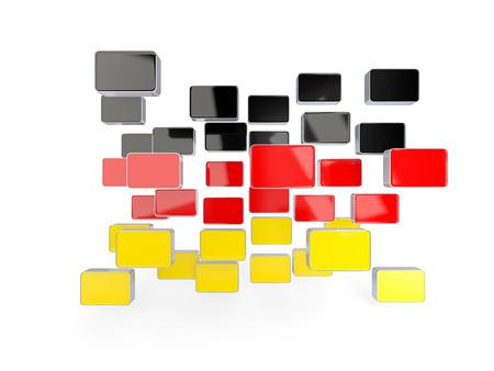 deutschland: Flag of germany, mosaic background. 3D illustration Stock Photo