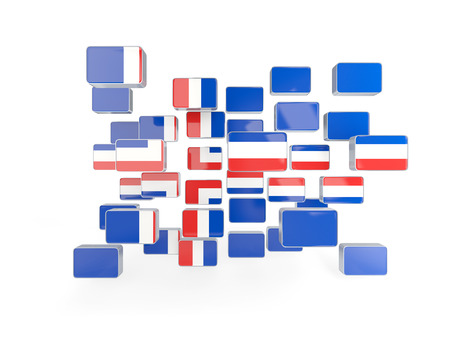 iceland: Flag of iceland, mosaic background. 3D illustration