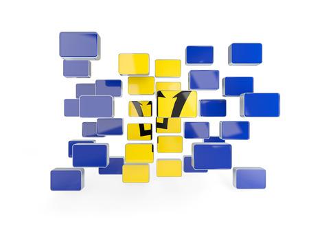 barbados: Flag of barbados, mosaic background. 3D illustration Stock Photo