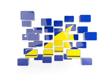 tokelau: Flag of tokelau, mosaic background. 3D illustration Stock Photo