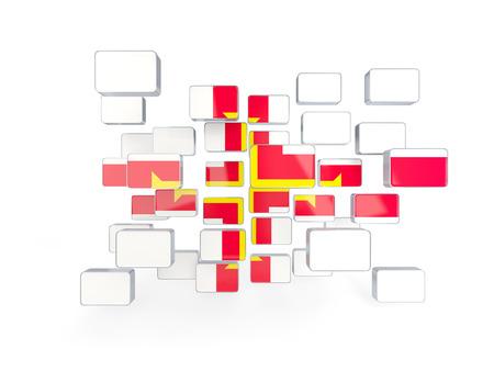 guernsey: Flag of guernsey, mosaic background. 3D illustration