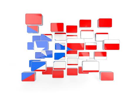 bandera de puerto rico: Bandera de Puerto Rico, mosaico de fondo. ilustración 3D
