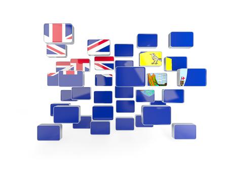 helena: Flag of saint helena, mosaic background. 3D illustration Stock Photo