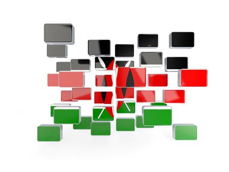 kenya: Flag of kenya, mosaic background. 3D illustration