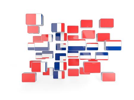 norway flag: Flag of norway, mosaic background. 3D illustration
