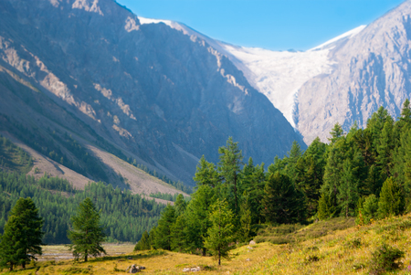 At the foothills of Aktru glacier, Altay mountains