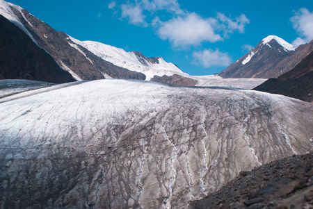altay: At the foothill of Big Aktru glacier. Altay mountains.