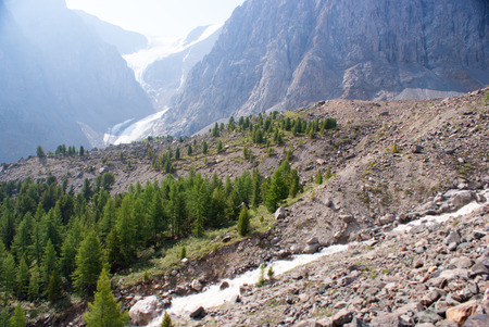 aktru: Small Aktru glacier, Altay mountains