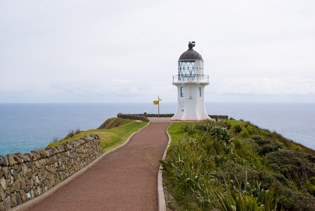 north end: Light house at the north end of the island. New Zealand Stock Photo