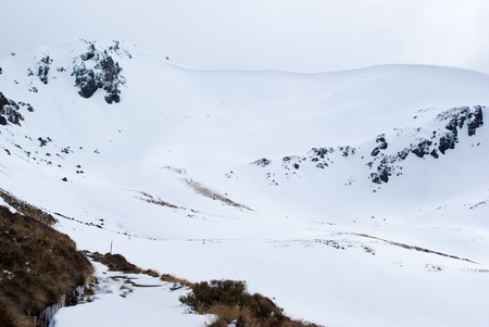 snow covered mountains: Snow covered mountains at Kepler Track, New Zealand Stock Photo