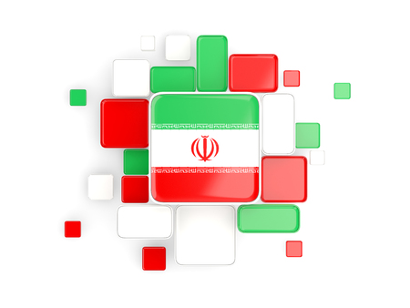 iran mosaic: Flag of iran, mosaic background with square parts. 3D illustration