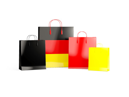shoping bag: Flag of germany on shopping bags. 3D illustration Stock Photo
