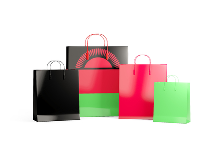 shoping bag: Flag of malawi on shopping bags. 3D illustration Stock Photo