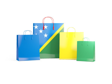 shoping bag: Flag of solomon islands on shopping bags. 3D illustration Stock Photo