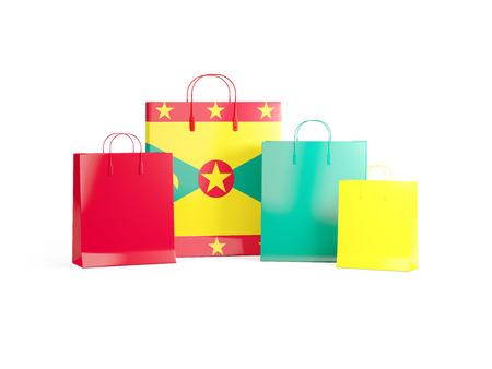 grenada: Flag of grenada on shopping bags. 3D illustration