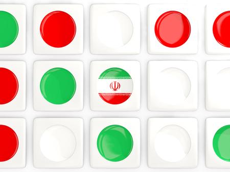 iran mosaic: Mosaic background with flag of iran. 3D illustration