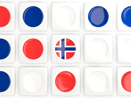 norway flag: Mosaic background with flag of norway. 3D illustration Stock Photo