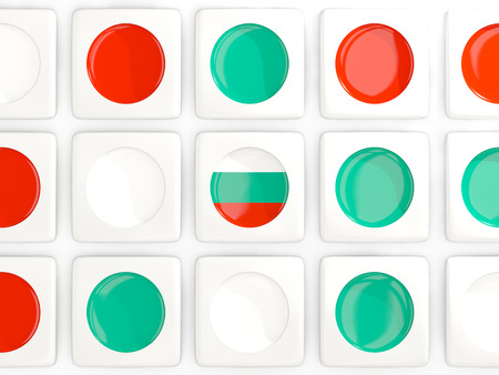 Mosaic background with flag of bulgaria. 3D illustration
