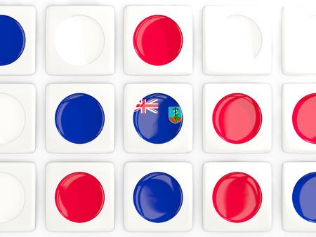 montserrat: Mosaic background with flag of montserrat. 3D illustration