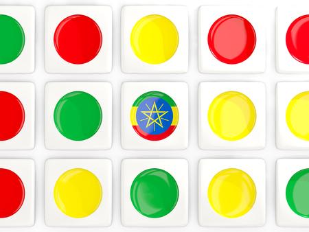 national flag ethiopia: Mosaic background with flag of ethiopia. 3D illustration