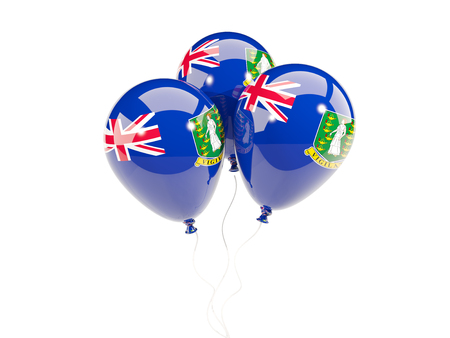 virgin islands: Three balloons with flag of virgin islands british isolated on white. 3D illustration Stock Photo