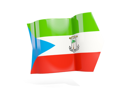 Arrow with flag of equatorial guinea, isolated on white. 3D illustration