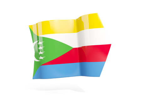 Arrow with flag of comoros, isolated on white. 3D illustration Stock Photo