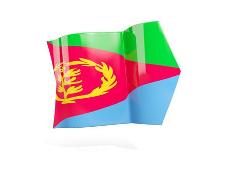 Arrow with flag of eritrea, isolated on white. 3D illustration Stock Photo