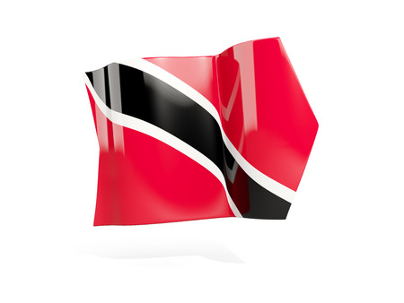 Arrow with flag of trinidad and tobago, isolated on white. 3D illustration