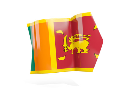 Arrow with flag of sri lanka, isolated on white. 3D illustration Stock Photo