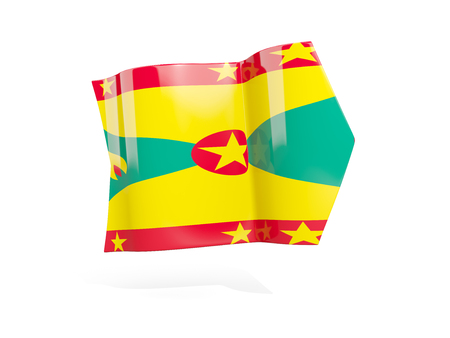 grenada: Arrow with flag of grenada, isolated on white. 3D illustration