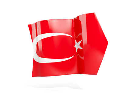 Arrow with flag of turkey, isolated on white. 3D illustration