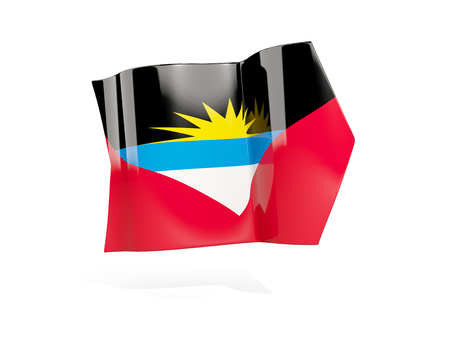 antigua: Arrow with flag of antigua and barbuda, isolated on white. 3D illustration Stock Photo