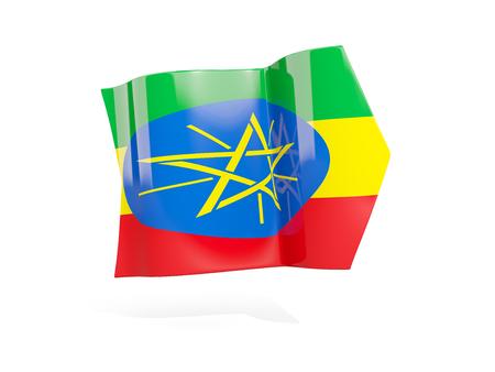 national flag ethiopia: Arrow with flag of ethiopia, isolated on white. 3D illustration Stock Photo