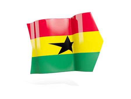 Arrow with flag of ghana, isolated on white. 3D illustration Stock Photo